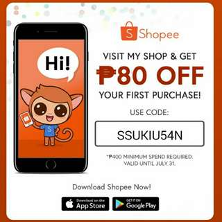 discount! for new or first time in shopee