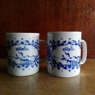 Blue & White Ceramic Cups