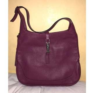 Mazzon Le Borse Violet Leather Bag