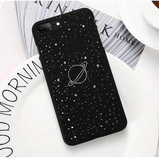 Iphone 6plus Black Matte Planet Star Phone Case