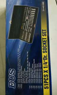 "1/4""Dr. Socket Set 51pcs"