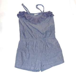 Charity Sale! Authentic Next Shorts Dress Denim Size 8 Years Old Girls height 128 CM