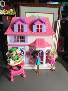 Take All Doll House with doorbell lights