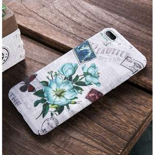 Iphone 7 Vintage Floral Pattern Phone Case