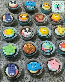 Animal Theme Party Cupcakes