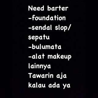 Need barter