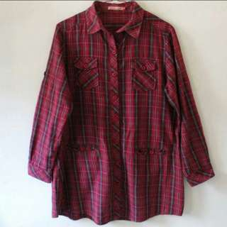 Blouse Kemeja women red