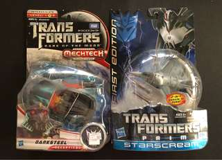 Transformers darksteel and starscream