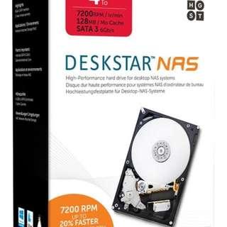 《SUNLINK》盒裝代理商公司貨 HGST 4TB NAS 硬碟(H3IKNAS400012872SWW)