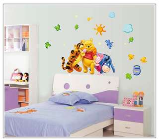 Winnie The Pooh Wall decal / wall stickers / home deco / party backdrop