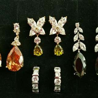 BNIB AAA GRADE NICHE HIGH CLARITY GEMSTONE JEWELRY SET IN CITRINE ONYX OLIVINE RRP$400