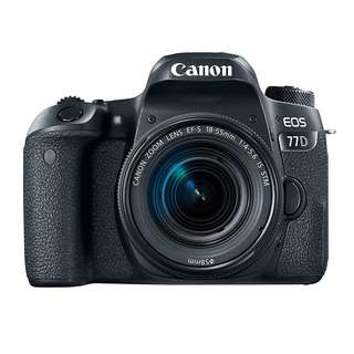 Canon EOS 77D with EF-S 18-55mm Kit Lens