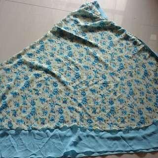 Jilbab syar'i bunga biru