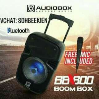 AUDIOBOX BBX800 BoomBox Trolley Bluetooth Speaker with Free Microphone No Controlled