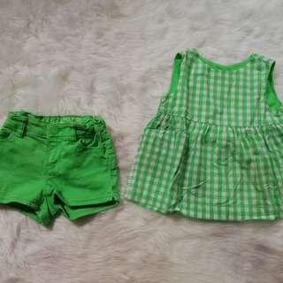Baby Gap Top & short