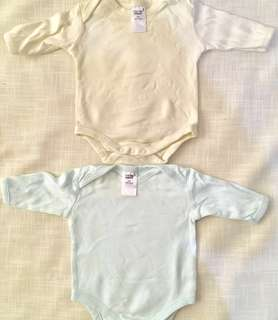 Charity Sale! Set of 2 Cotton Onesies size 0-4 Months