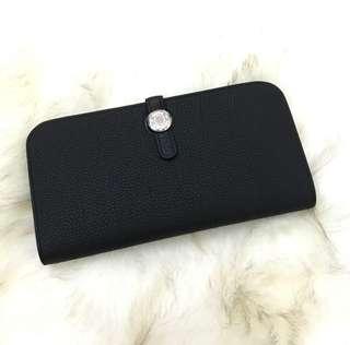 Sale! BNIB Authentic Hermes Dogon Wallet in Black