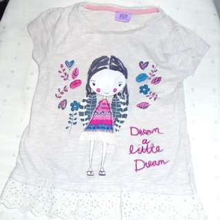 Charity Sale! F&F Girl's t-shirt Vintage Shirt Size 18-24 months