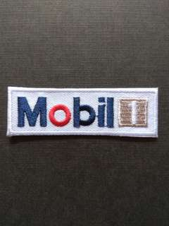 Mobil 1 Racing F1 Sports Car Oil Iron On Patch