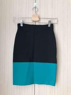 BCBG Black Blue Skirt