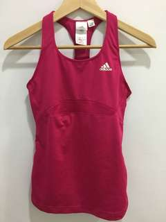Adidas hot pink tank w/ built in bra