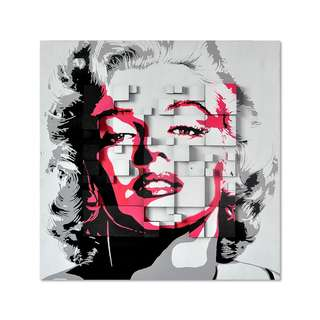 Marilyn Monroe Pink Art Canvas Framed