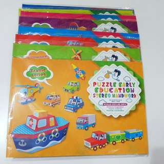 (KLP)Brand new set of 8 DIY puzzles (24pax) kids party