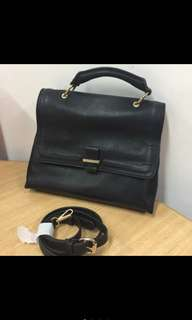 Zara black satchel sling