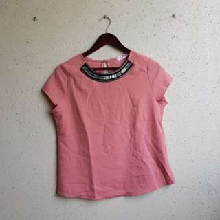 CELEST peach blouse with embellishment