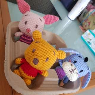 Pooh and friends crochet (set of 3)