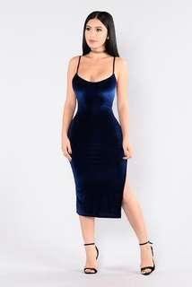 Fashion Nova Velvet Dress