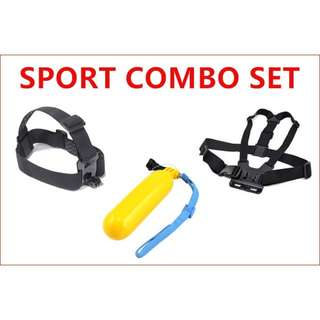COMBO FOR ACTION CAMERA HIKING/DIVING/RACING SET