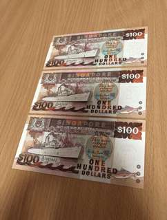 Ship Series (1984-1999) Currency $100 New Notes