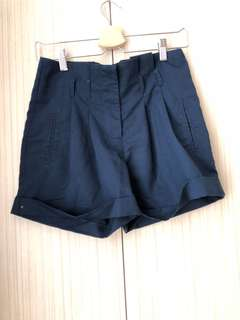 Paper Scissor Blue Shorts