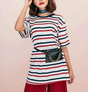 90's stripes oversized shirt (unisex)