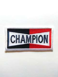 Champion Logo Sports Car Racing Iron On Patch