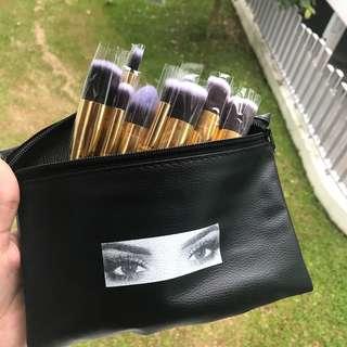 10pcs Huda Beauty Professional HD Contour Kabuki Brushes with PU Makeup Bag/Case