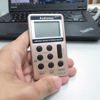 Audiomax SRA-8 AM/FM 袋裝收音機 (快閃半價優惠!)