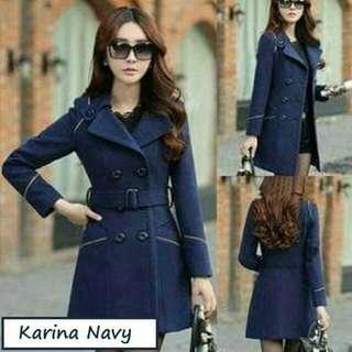 Blazer / Coat / Jacket Korea Karina Navy