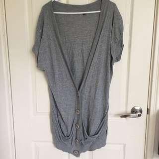 Oversized Short Sleeve Cardigan size s
