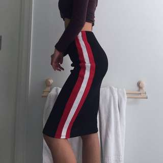 Racer Stripe Skirt