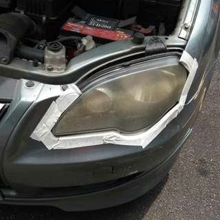 Coating headlamps