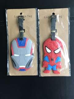 Superhero luggage tags