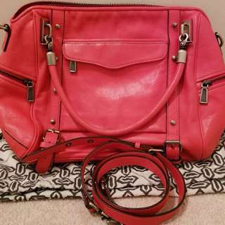 NEW !!! rebecca minkoff cupid satchel fire engine red