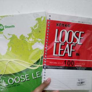Kertas isi binder / loose leaf