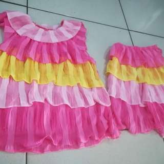Pink yellow dress