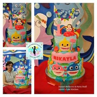 Baby Shark Theme Fondant Cake