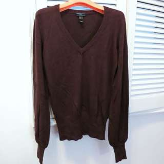 MNG Brown V-neck Sweater