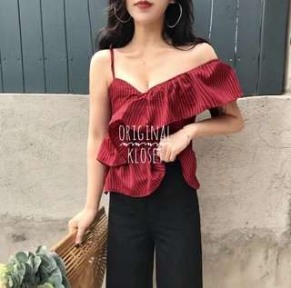 👜2018 S/S Hot Off Shoulder Top
