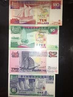 Singapore Ship Series Paper Notes